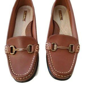 Thom McAn Brown Buckle Loafer Shoes   8W